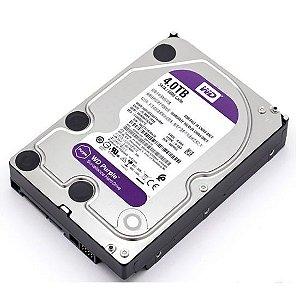 """Hd Segurança 4 Tb Western Digital Wd40Purx, Purple, Surveillance, Sata3, 5.400Rpm, 64 Mb, 3.5"""""""