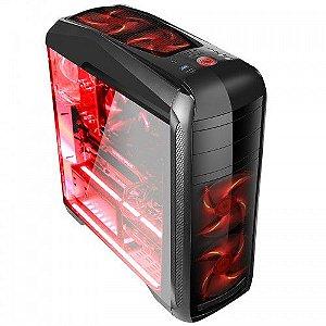 Pc Gamer Amd Ryzen 5600X, Gigabyte B550M, Ssd Nvme 500Gb Wd, Mem. 8Gb Hyperx, Bluecase Bg024, Fonte 550 Gigabyte, Rx570