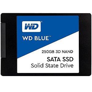 Ssd Sata3 250 Gb Wd Blue Wds250G2B0A, Lê: 550 Mb/S, Grava: 525 Mb/S