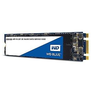 Ssd M2 250 Gb Western Digital Blue Wds250G2B0B, Lê: 550 Mb/S, Grava: 525 Mb/S