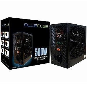 Fonte Atx 500 W Bluecase Blu500-E Atx, Com Cabo, Com Caixa