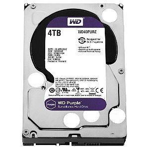 """Hd Segurança 4 Tb Western Digital Wd40Purz, Purple, Surveillance, Sata3, 5.400Rpm, 64 Mb, 3.5"""""""