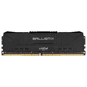 Memória Desktop Ddr4 8Gb/2666 Mhz Crucial Ballistix Black Bl8G26C16U4B, Cl 16