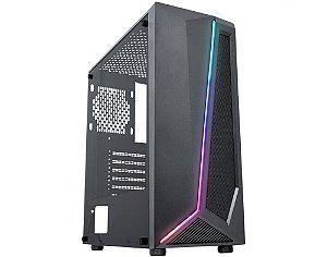 Pc Gamer Intel I3-10100F, Gigabyte H410M H, Ssd 480Gb Kingston, Mem 8Gb Hyperx, Kmex 38Tj, Fonte 550 Gigabyte, Rx550