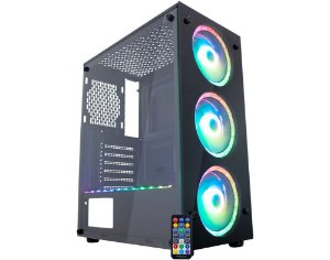 Pc Gamer Amd Ryzen 3200G, Asrock B450M, Ssd 480Gb Kingston, Mem 16Gb Hyperx, Kmex A1Tj, Fonte 550 Corsair
