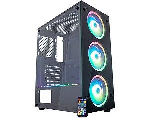 Pc Gamer Amd Ryzen 5600G, Gigabyte A520M, Ssd Nvme 500Gb Wd, Mem 16Gb Hyperx, Kmex A1Tj, Fonte 550 Corsair