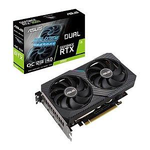 Placa De Vídeo Geforce Ddr6 12Gb/192 Bits Rtx 3060 Asus, Oc, Dual-Rtx3060-O12G-V2, Com Lhr
