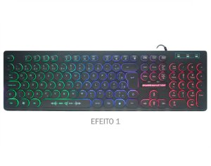 Kit Gamer, Teclado Km-7628 + Mouse Mod734 + Mousepad Fxx-2418, Kmex 3X1