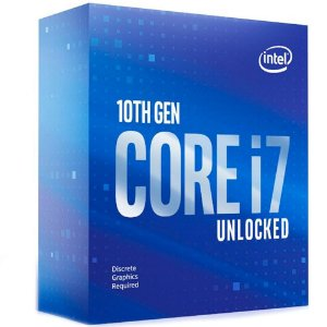 Processador 1200 Intel 10ª Geração Core I7-10700Kf, 3.8 Ghz, 16Mb, Bx8070110700Kf, Sem Vídeo, Sem Cooler