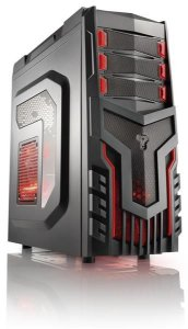 GABINETE WARRIOR GAMER - COOLER C/ LED GA124 S/FONTE MULTILASER