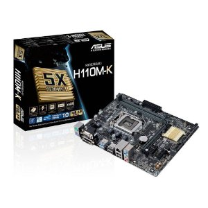 PLACA MAE 1151 ASUS H110M-K SOM/VIDEO/REDE/DVI DDR4 GARANTIA: 1 ANO