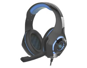 HEADSET GAMER STEREO LED AZUL AR-S406 C/ MICROFONE GAMING KMEX