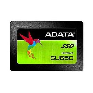 "SSD 240 GB ADATA SU650 SATA III 2.5"" GARANTIA: 1 ANO"