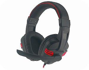 Headset Gamer Kmex Ar-S1080 Preto/Verm C/Microfone Gaming Stereo