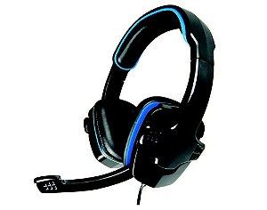 HEADSET GAMER STEREO KMEX AR-S501 PRETO/AZUL C/ MICROFONE GAMING GARANTIA: 90 DIAS