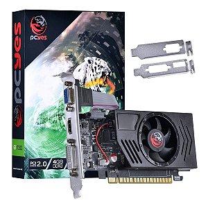 PLACA DE VIDEO NVIDIA PCYES GEFORCE GT 730 LOW PROFILE 4GB DDR3 128 BITS GARANTIA: 90 DIAS
