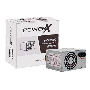 Fonte Atx 230 W Powerx Px230, Box, Sem Pfc, Com Cabo De Força
