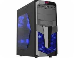 Gabinete Gamer Kmex Cg-02R1 Excalibur Ii Lat. Acrilico Usb 2.0 Sem Fan Sem Fonte