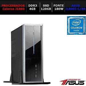 MICROCOMPUTADOR NTC PC CELERON 1027 NK SSD ASUS ITX COMPACT (J1800/4GB/SSD120/180W)
