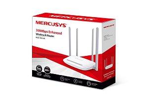 Roteador Mercusys Mw325R Wireless 300 Mbps 4 Portas 10/100 Mbps 4 Antenas 5Dbi