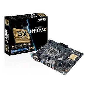 PLACA MAE 1151 ASUS H110M-K SOM/VIDEO/REDE/DVI DDR4 GARANTIA: 90 DIAS TIB