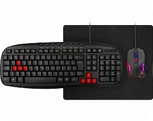Kit Gamer Kmex 3X1 Teclado Km-1328 + Mouse Mo-G536 + Mouse Pad