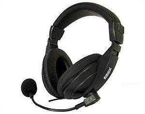 Fone De Ouvido Preto Kmex Ar-S7500 C/ Microfone/Headset