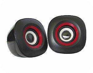 CAIXA DE SOM KMEX SP-7000 USB PRETO/ VERMELHO 3W+3W RMS STEREO GARANTIA: 30 DIAS