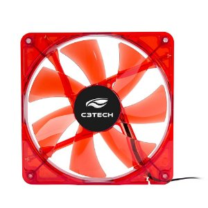 COOLER FAN C3TECH F7-L200RD STORM 14 CM LED GARANTIA: 90 DIAS