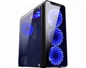 COMPUTADOR GAMER TIBURON INTEL I7-7700, MEMORIA 8GB, SSD 480GB, PLACA MAE 7ª GER, VGA 2 GB, GAB. GAMER KMEX, FONTE 600W