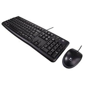 Kit Teclado E Mouse Com Fio Logitech Mk120, Resistente À Água, 1000Dpi, Preto, Abnt2, 920-004429