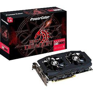 PLACA DE VIDEO DDR5 8GB/256 BITS POWER COLOR RADEON AX RX 580 3DHDV2/OC GARANTIA: 6 MESES TIBURON