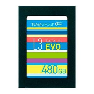 "SSD 480 GB TEAM GROUP L3 EVO SATA III 2,5"" POLEGADAS GARANTIA: 3 MESES TIBURON"
