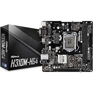 PLACA MAE 1151 8ª GERAÇÃO ASROCK H310MHG4 DDR4 GARANTIA: 3 MESES TIBURON
