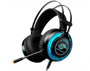 Headset Gamer Kmex AR-S9300 Rgb Stereo Azul Com Microfone Led