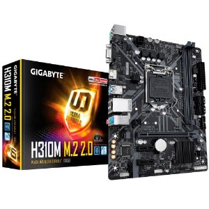 Placa Mãe 1151 8ª, 9ª Geração Gigabyte H310M M.2 2.0, DDR4 32Gb, M2, Hdmi, Dsub