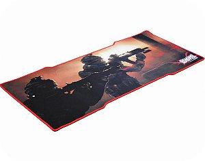Mousepad Gamer Kmex Fx-X8035 Swat, 80X35Cm, Dimensão Gamer, Excelente Fixação, Borda Costurada