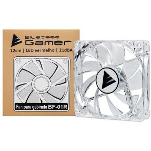 Cooler Fan Bluecase Bf-01R Led Vermelho 120 Mm