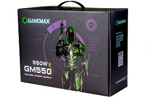 Fonte Atx 550 W Gamemax Gm550 Box 80 Plus Bronze C/Pfc Preta