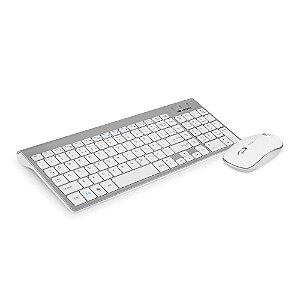 Kit Teclado E Mouse Sem Fio C3Tech K-W510Swh Abnt2 1600Dpi Branco