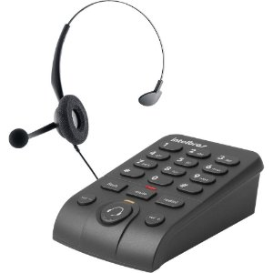 Telefone Headset Intelbras Hsb50, Com Base Discadora, 4013330