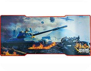 Mousepad Gamer Kmex Fx-X8135 War Tank Grande 80X35 Cm Borda Costurada