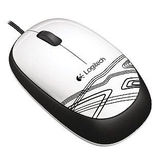 Mouse Usb Logitech M105, Branco, Óptico, 1.000 Dpi, 910-003138