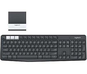 Teclado Sem Fio Logitech K375S Multi Device, Combinação Com Suporte E Teclado, 920-008167