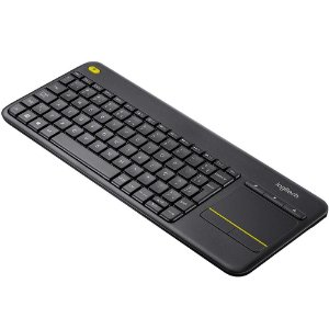 Teclado Wireless Logitech K400 Plus Cinza, Com Touchpad, 920-007125