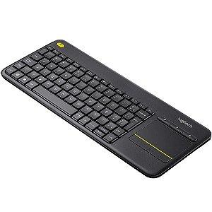 Teclado Sem Fio Logitech K400 Plus Cinza, Com Touchpad, 920-007125