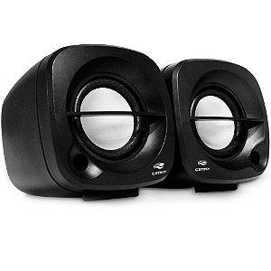 Speaker C3Tech Sp-303Bk, 3W Rms, Áudio 2.0, P2, Usb, Controle De Volume