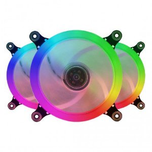 Cooler Fan Rgb Bluecase Bfr-09Rgb Ring, Controlável, 6 pinos, Led, 12X12X2.5 Cm