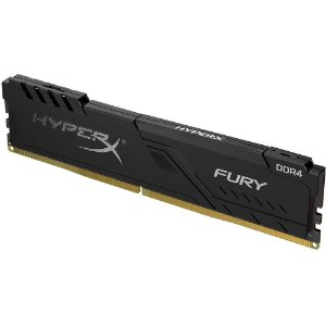 Memoria Desktop Ddr4 8Gb/2666 Mhz Kingston Hyperx Fury Gamer Black Hx426C16Fb3/8, Cl 16