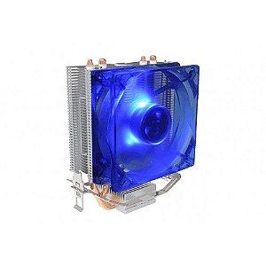 Cooler Universal Para Processador Gamer, Intel E Amd Bluecase Bcg-03Ucb, Cobre, Com Led Azul